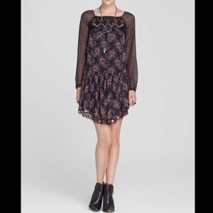 Free People Elsie Midnight Garden Dress Size Small